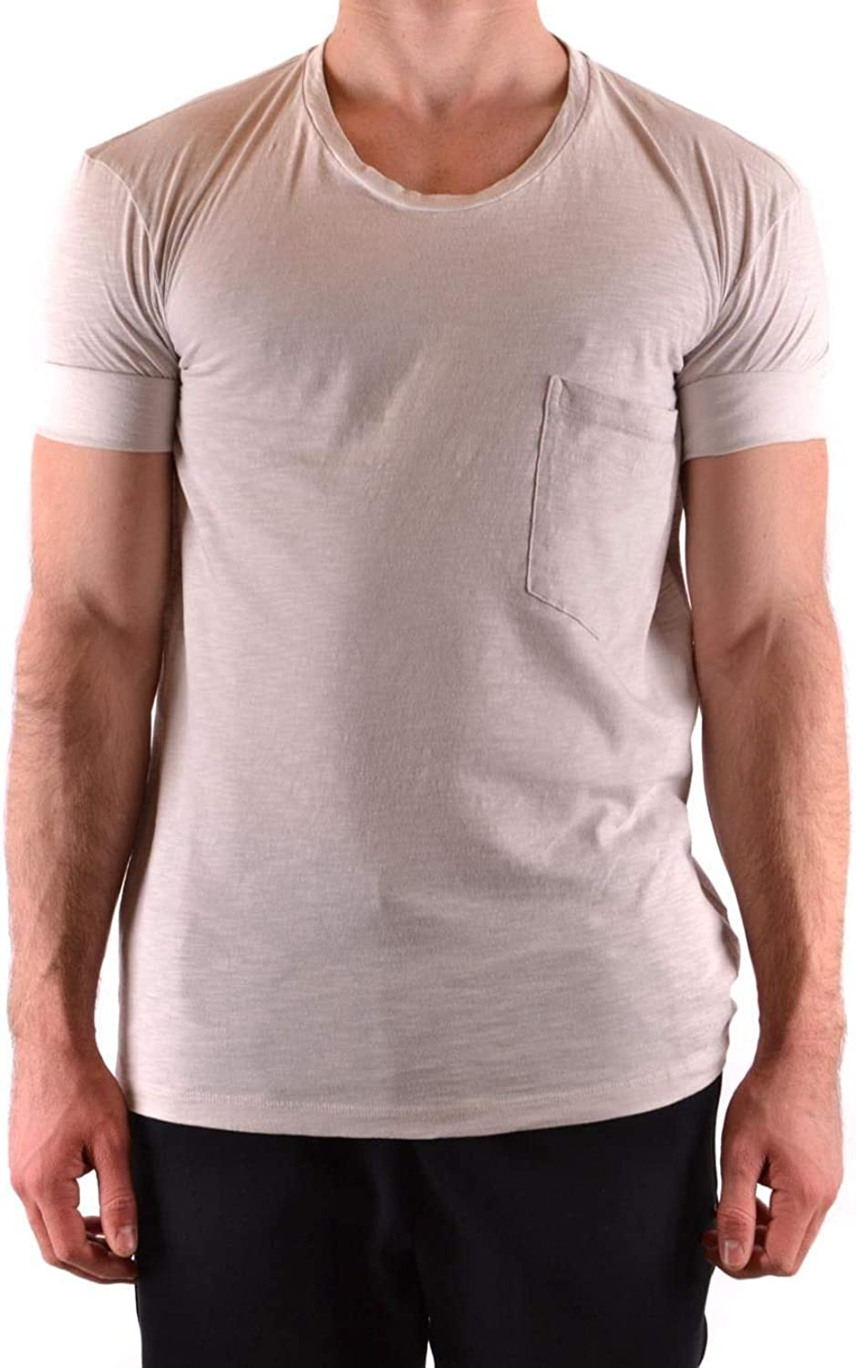 NEIL BARRETT Men's BJT525TL538C1302 White Cotton TShirt