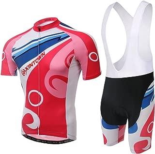 TeyxoCo Men Pink Bubble Cycling Gel Pad Jersey Set