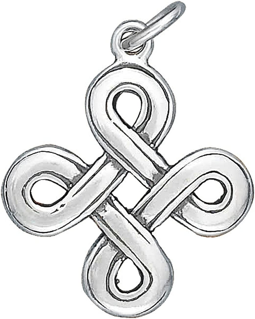 Sterling Silver Girls .8mm Box Discount is also underway Necklac Super special price Knot Chain Pendant Celtic