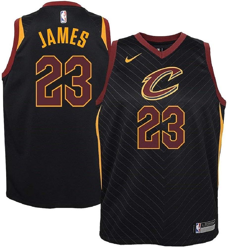 Amazon.com : Nike Lebron James Cleveland Cavaliers NBA Youth Black ...