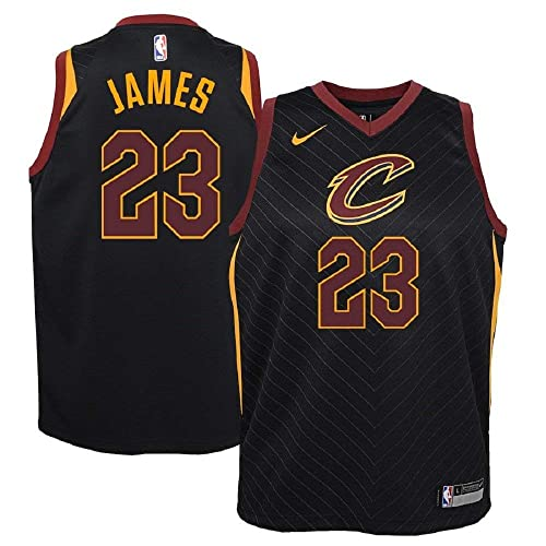 d896663ca94 NIKE Lebron James Cleveland Cavaliers NBA Youth Black Alternate Dri-Fit  Swingman Statement Edition Icon