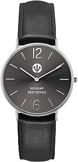 Ice-Watch - Red Devils Black Silver - Montre Noire pour Homme avec Bracelet en Cuir - 016100 (Medium)