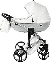 Cochecito de bebé Junama Diamond Mirror Satin 2en1 carro duo (blanco)