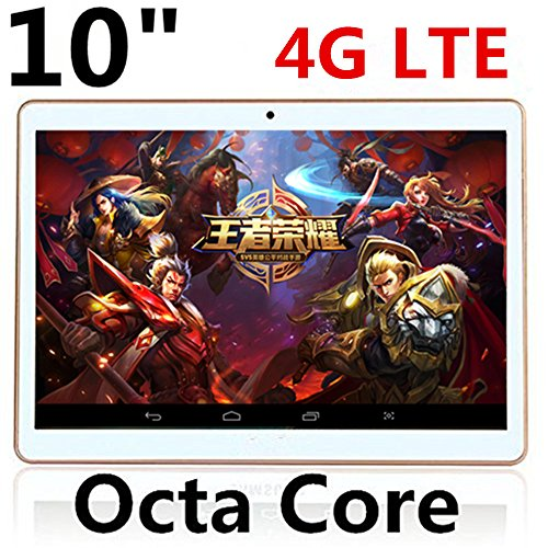 Octa Core 10 Inch Tablet PC 4 G LTE Android 5.1 Phone Mobile 3 G Sim Card Slot Cámara 4 GB RAM 8.0 MP IPS 2560 X 1600 GPS PCS7 9