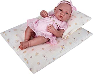 18 Inch Doll Bedding 2 Pc. Set - Reversible Print Baby Doll Bedding Accessories with Comforter and Pillow - Fits American Girl Dolls and Other 18 Inch Dolls