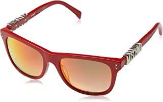 Moschino Wayfarer Sunglasses for Women - Pink Lens, MOS003/S C9AUZ (MOS003/S C9AUZ Pink)