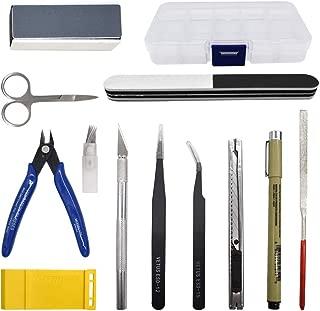 Renashed 12Pcs Gundam Modeler Basic Tools Hobby Model Assemble Building Kit for Beginner Professional Model