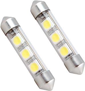 Dream Lighting 2PCS Low Voltage 12V DC LED Festoon Halogen Replace Globe Bulb 3-SMD Interior Cabin Dome Courtesy Map Dashb...