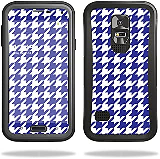 Skin Compatible with OtterBox Preserver Samsung Galaxy S5 Case – Blue Houndstooth | MightySkins Protective, Durable, and Unique Vinyl wrap Cover | Easy to Apply, Remove | Made in The USA