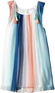Chloe Girls' Couture Rainbow Striped Sleeveless Dress Kid