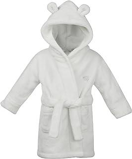 BabyTown Bebé Niño Niña, Franela Polar Albornoz Neutral Blanco Terciopelo Touch