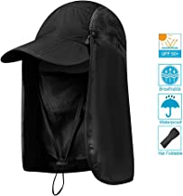 AOKELILY Sun Hats for Men/Women Outdoor UPF 50+ Waterproof Sun Caps Flap Hats UV 360° Solar Protection Breathable Quick-Drying Face Neck Flap Cover Sun Hats