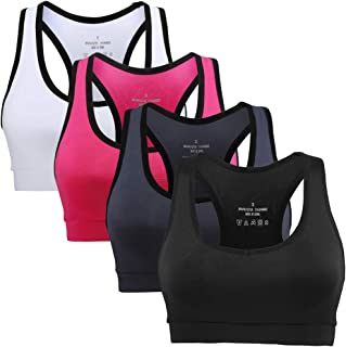 EILYEE Women's Zip Front Racerback Medium Support Sports Bra Double Wear Breathable Support for Gym Yoga Training