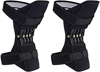 Breathable Joint Support Knee Pads Recovery Brace - Non-Slip Pain Relief Knee Lift Leg Band - Protective Sports Knee Stabilizer Pads Rebound Spring Force Knee Power Enhancer Booster (ColorB)