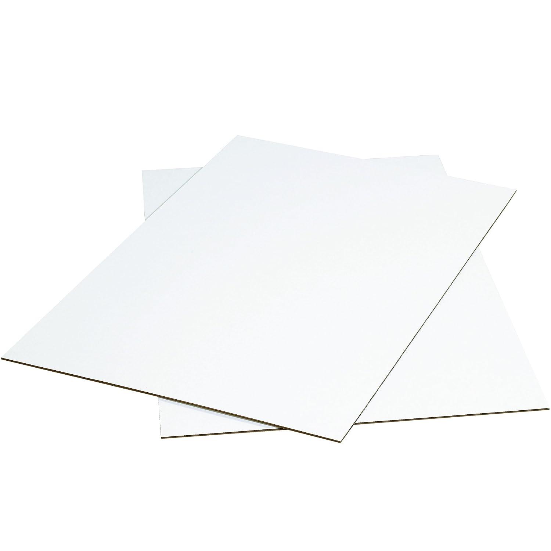gift Max 61% OFF Aviditi SP3040WSK White Corrugated Sheets W x L 40