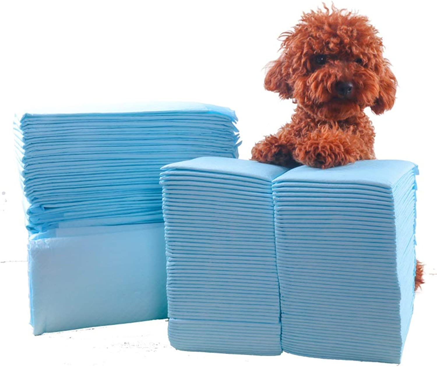 LLHYOO Pet Training Pads, Dog Pad Thickening Deodorant Teddy Paper Diapers Disposable Training Nonwet Absorbent Pad Pet CESUO (Size   45cm60cm (50 pieces))