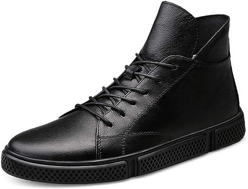 Bottes de Travail pour Hommes, Mode décontractée Hiver Nouveau Style Simple Polaire à l'intérieur de la Botte Haute (conventionnel en Option),2018 Chaussures Homme Bottes et bottes