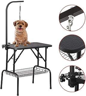 PIG Mesa peluqueria Canina Plegable Mesa de la preparación Heavy Duty Portable Pet Dog