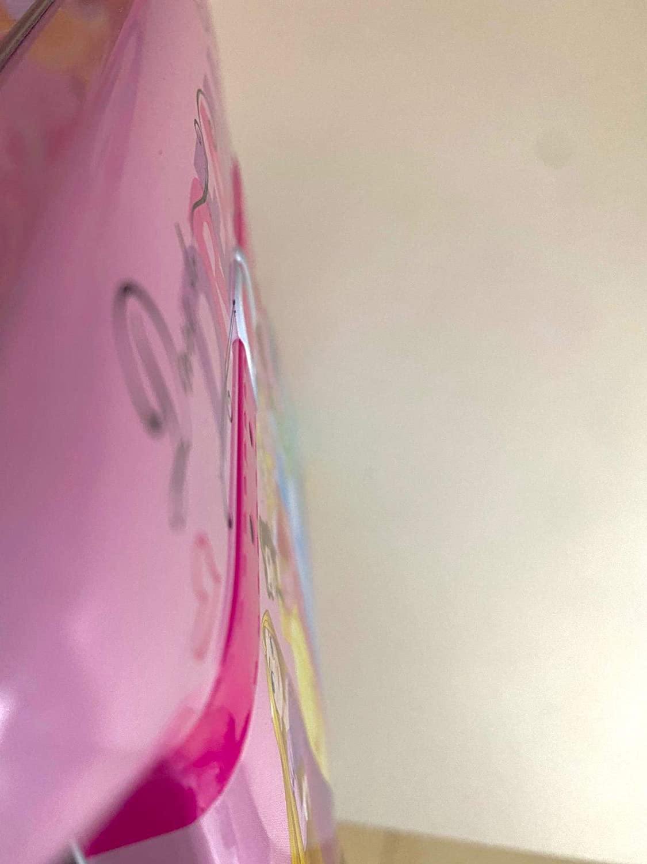 Princesses Disney Tin Lunch Box Purse Cinderella, Belle, Rapunzel, Aurora, Tiana, Ariel Dream - Pink