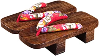 CRB Fashion Womens Mens Japanese Wooden Traditional Kimono Geta Sandals Clogs