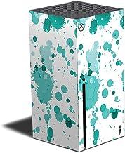 MIGHTY SKINS Película compatível com Xbox Series X – respingos azul-petróleo | Capa protetora, durável e exclusiva de deca...