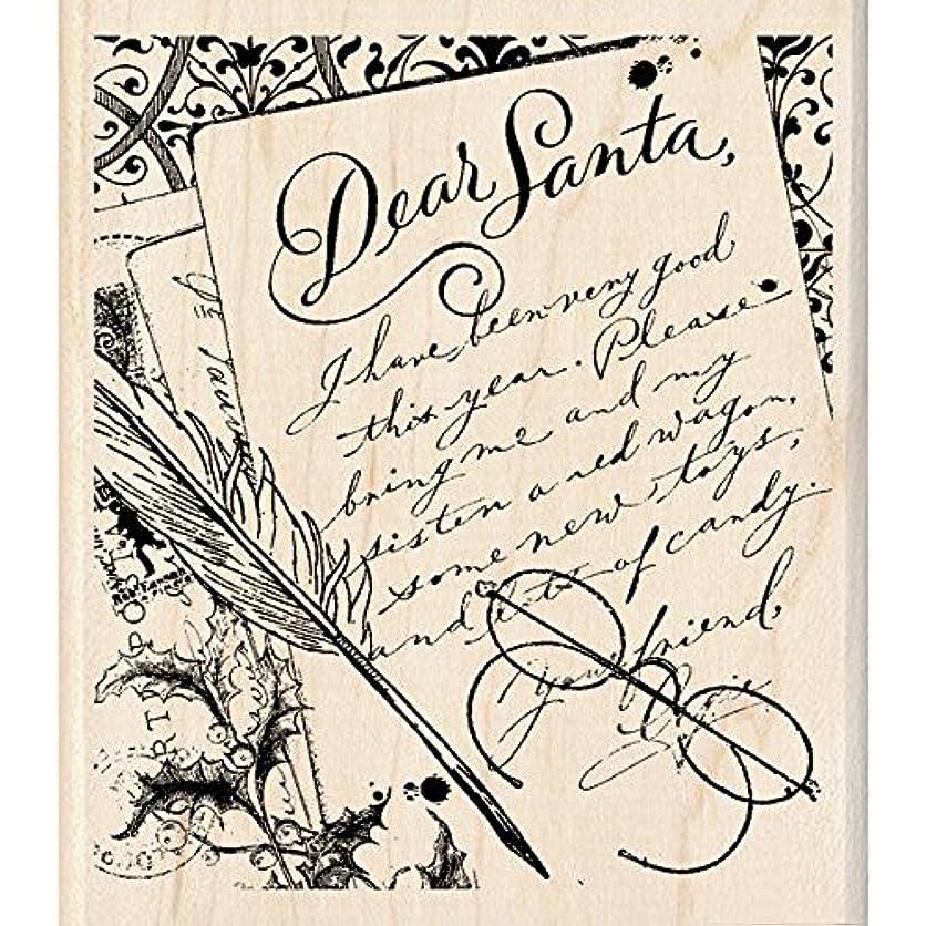 Inkadinkado Wood Stamp, Dear Santa Letter lpvz88400