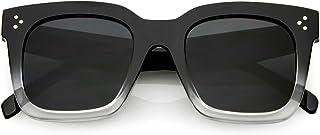 zeroUV - نظارات شمسية مربعة عصرية كبيرة الحجم للنساء نمط عتيق 50 مم