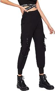 Romwe Women`s Workout Jogger Pants High Waist Lightweight Hiking Outdoor Cargo Sweatpants