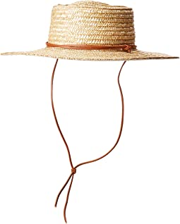 WSH1201 - Wheat Straw Hat with Leather Chin Cord