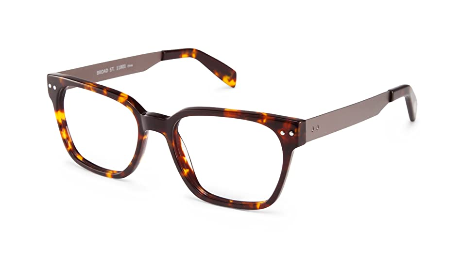 Broad Street - Rounded Square Trendy Fashion Reading Glasses for Men and Women - Tortoise/Gunmetal