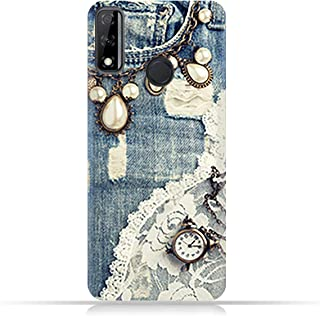 AMC Design Huawei Y8s TPU Mobile Case with Modern Jeans Pattern