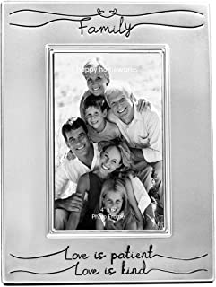 """Best Haysom Interiors Beautiful Two Tone Silver Plated Family 4"""" x 6"""" Picture Frame with Black Velvet   Unique and Thoughtful Gift Idea Review"""