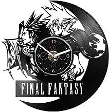 Clock Final Fantasy Wall Large Vinyl Wall Final Fantasy Gift for Gamer Final Fantasy Vinyl Wall Final Fantasy Gift for Man Final Fantasy Wall Vinyl Wall