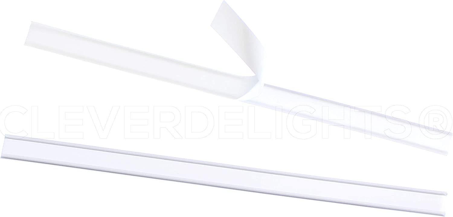 CleverDelights Tulsa Mall Peel and Stick Tin Ties 5.5 Inch San Francisco Mall - White 1000