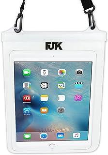 FJTK タブレット用 防水ケース ストラップ付 10インチ対応 風呂 プール 海水浴 などに
