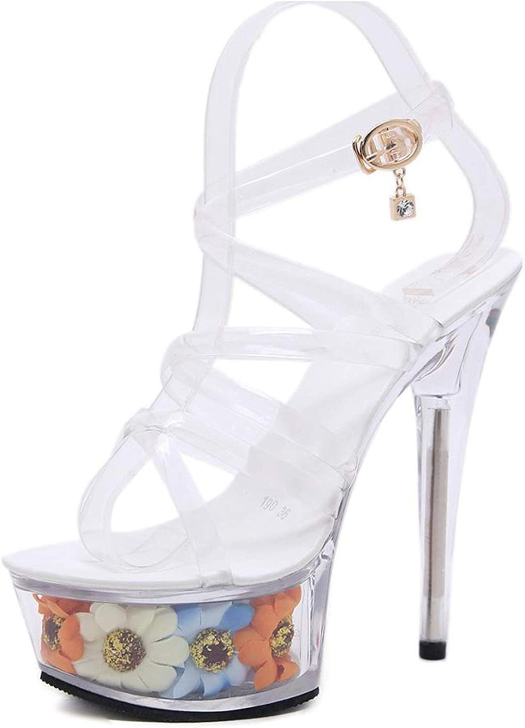 Women Fashion Sexy High Heel shoes 15Cm Fine Waterproof Table Sandals Crystal shoes Wedding shoes High Heels Lfd-193