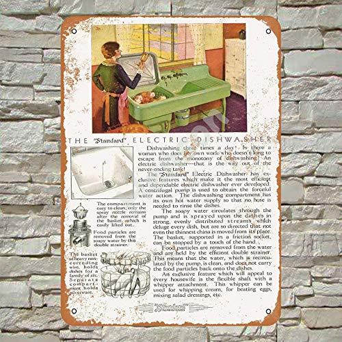 Henson 1930 Standaard Elektrische Vaatwasser Traditionele Vintage Tin Teken Logo 12 * 8 Reclame Opvallende Wanddecoratie