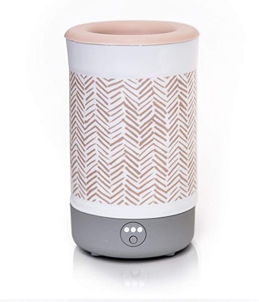 Happy Wax Signature Wax Melt Warmer 2 0 For Scented Wax Melts Cubes Tarts Electric Wax Melter With Automatic Timer Patent Pending Silicone Top Herringbone