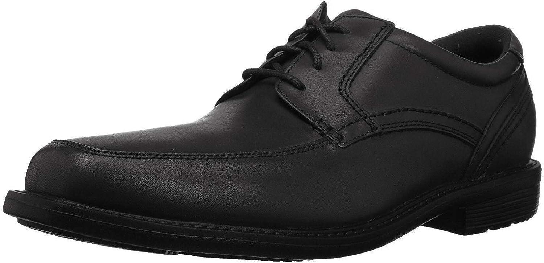 Rockport Men's Style Crew Apron Toe Oxford, black, 11 M US