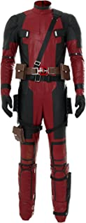 Kostor Deadpool Ganzköper Lycra Spandex Zentai-Anzug-Strampler Halloween Cosplay Kostüm Rot XL