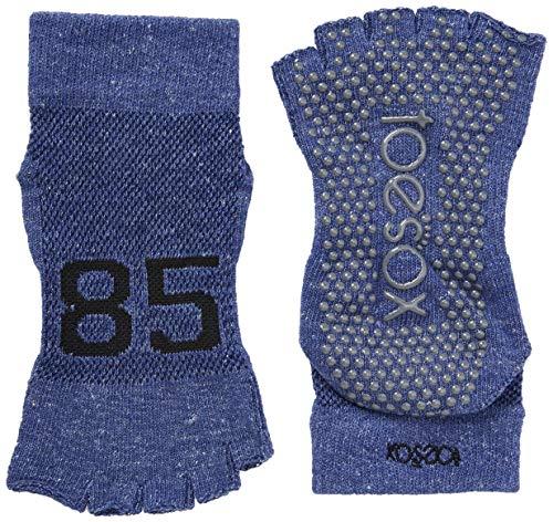 Toesox Damen Grip Pilates Barre Socks-Non Slip Ankle Half Toe for Yoga & Ballet, Jersey, m
