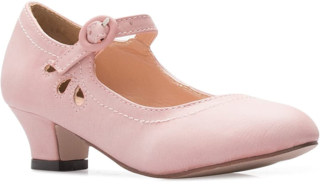 Toddler//Little Girl Olivia K Girls Bow Mary Jane Kitten Heel Pumps
