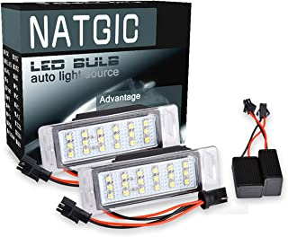 NGCAT 1 Pair 18SMD CanBus LED License Plate Light Car Rear License Plate Lamp Trunk Switch Button Assembly Car Styling,12-14.5V 2W