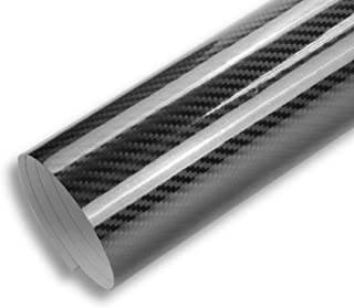 TCBunny CFW-1530-5B 10x5 FT High Gloss 5D Carbon Fiber Vinyl Wrap Sticker Air Realease Bubble Free Waterproof Anti-Wrinkle, 120 inch x 60 inch 10FT x 5FT
