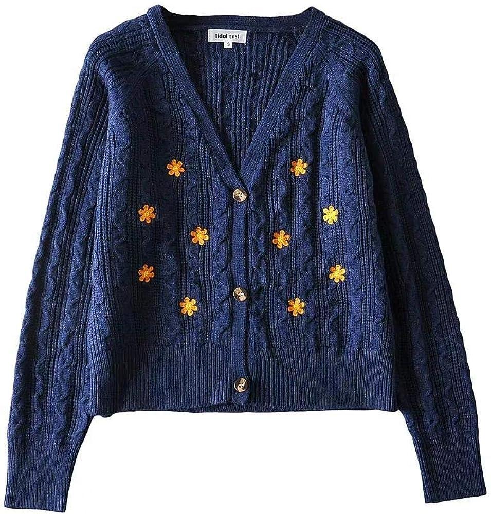 Cardigans Women Floral Autumn Oversized Y2k Sweaters Harajuku Vintage Coats Aesthetic Tops