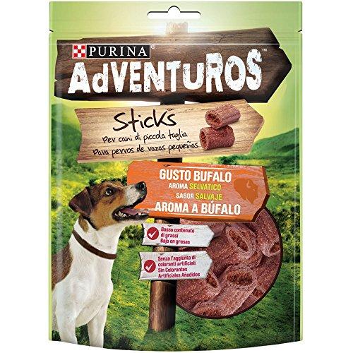 Adventuros Purina Snack Hund Mini Stick mit Büffelgeschmack, 6 Beutel à 90 g