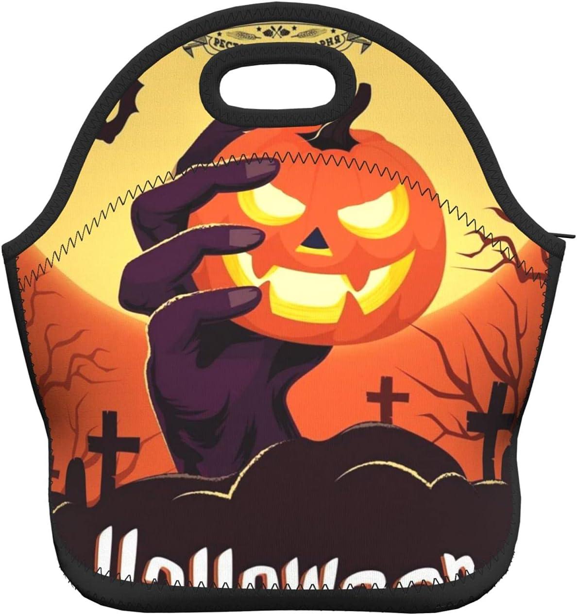 Halloween price Holding Pumpkin In Lunch Neoprene Soft Hand Spring new work
