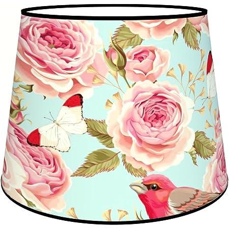 Abat-jours 7111304843118 Conique Imprimé Henriette Lampadaire, Tissus/PVC, Multicolore