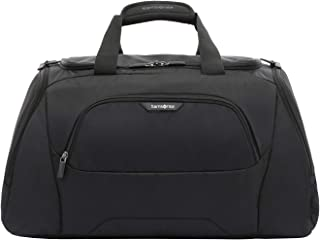 Samsonite 104349 Albi Soft Side Duffle Bag, Black/Grey, 30 Centimeters
