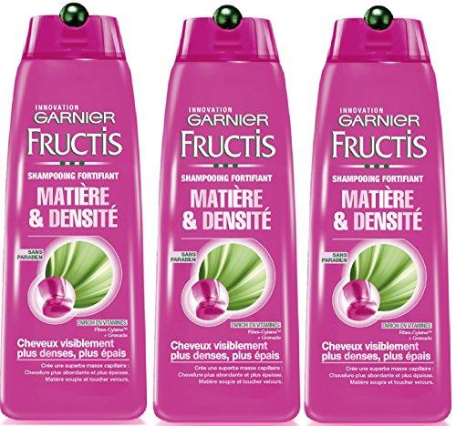 Garnier - Fructis e materiale Densità - Shampoo fortificante capelli densità di volume manca - Set di 3